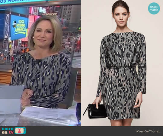 'Lotta' Dress by Reiss worn by Amy Robach on Good Morning America