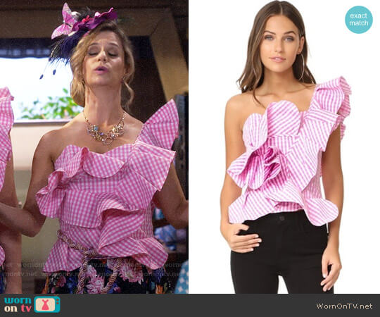 Stylekeepers She's All That Top worn by Andrea Barber on Fuller House
