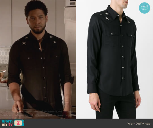 shoulder star print shirt by Saint Laurent worn by Jussie Smollett on Empire