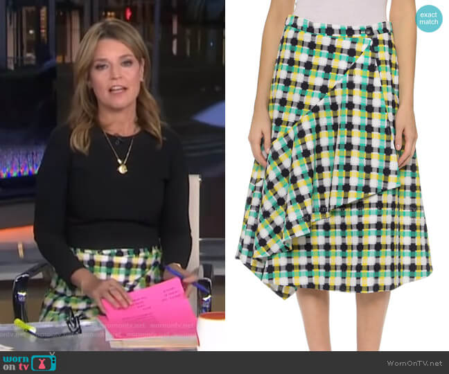 'Scarlet' Skirt by Creatures of the Wind worn by Savannah Guthrie  on Today
