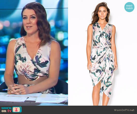 True Romance Dress by Sheike worn by Gorgi Coghlan  on The Project