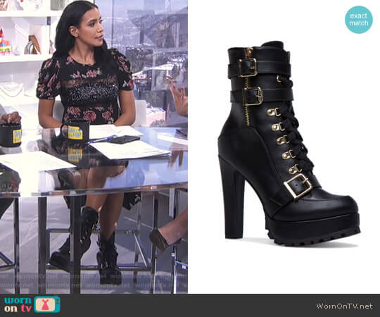 Salti Bootie by ShoeDazzle worn by Julissa Bermudez on E! News