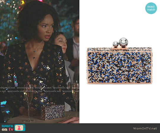 Clara Ball Clasp Clutch by Sophia Webster worn by Wakeema Hollis on Dynasty