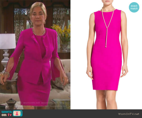 Clair Knit Dress by St. John worn by Kassie DePaiva on Days of our Lives