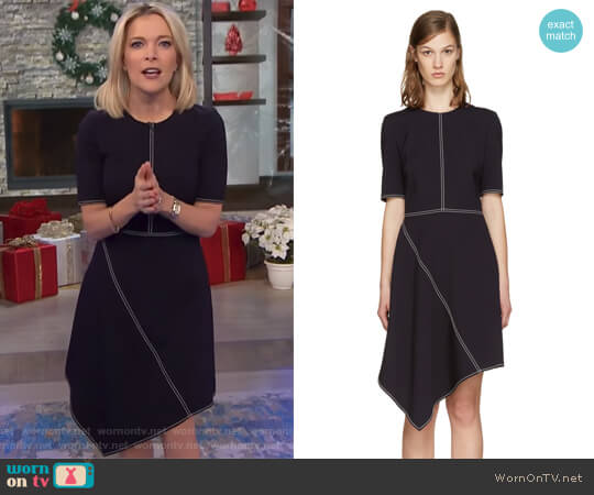 Navy Wool Stitching Dress by Stella McCartney worn by Megyn Kelly on Today
