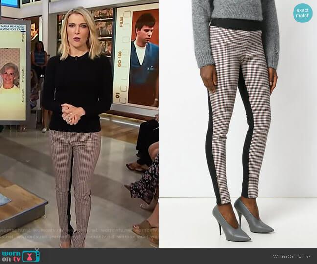 Plaid Front Leggings by Stella McCartney worn by Megyn Kelly  on Today