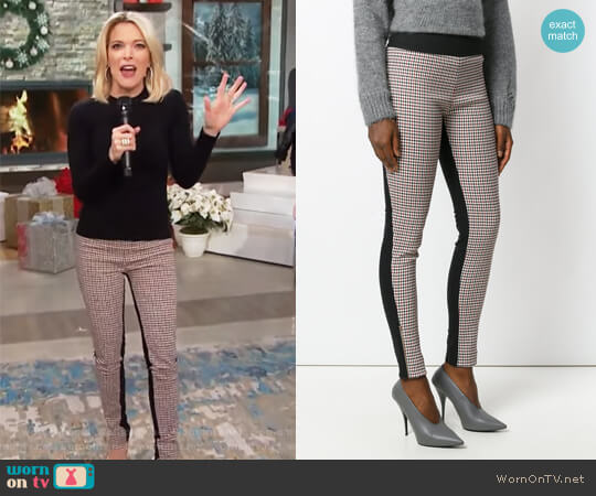 Plaid Front Leggings by Stella McCartney worn by Megyn Kelly on Today