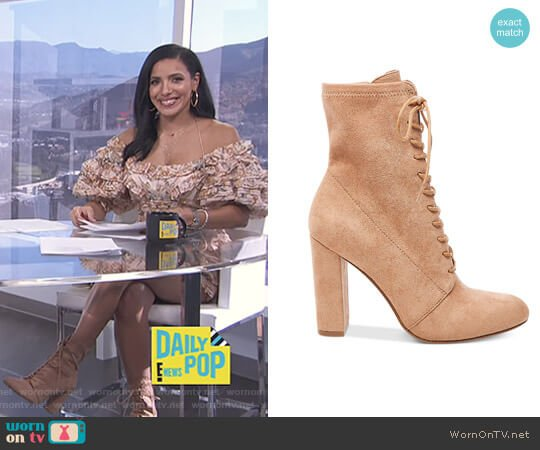 'Elley' Boots by Steve Madden worn by Julissa Bermudez  on E! News