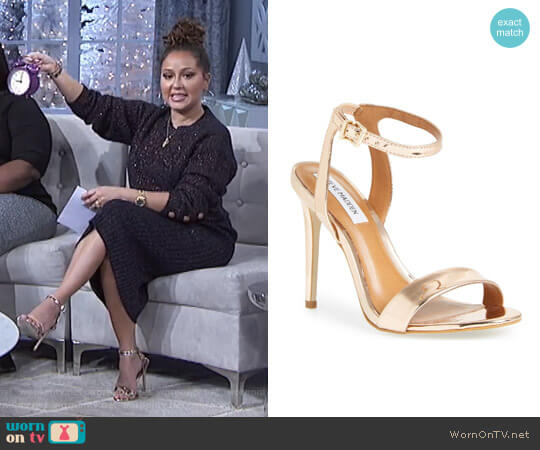 'Landen' Sandal by Steve Madden worn by Adrienne Houghton  on The Real