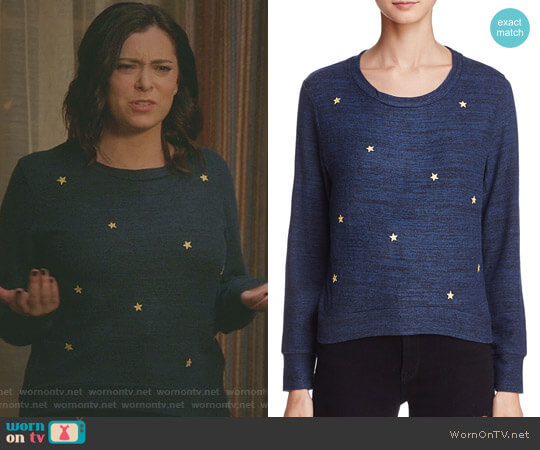Star Patch Sweatshirt by Sundry worn by Rachel Bloom on Crazy Ex-Girlfriend