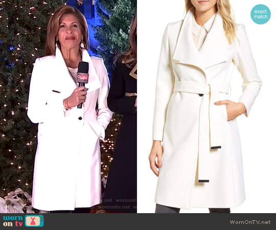 Wool Blend Long Wrap Coat by Ted Baker worn by Hoda Kotb  on Today