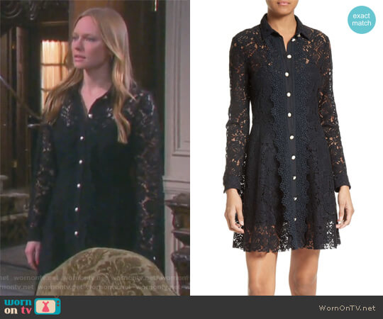 Lace Shirtdress by The Kooples worn by Marci Miller on Days of our Lives
