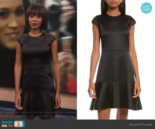 Essential Flare A-Line Dress by Theory worn by Zuri Hall on E! News