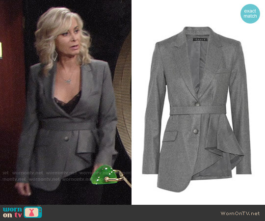 Theory Jester Jacket worn by Eileen Davidson on The Young & the Restless