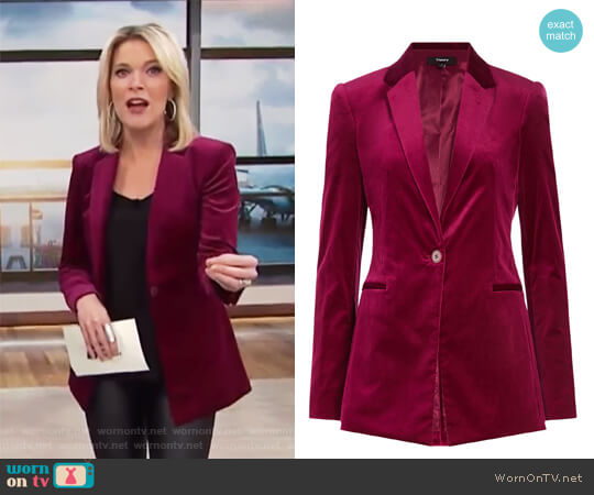 Velvet Blazer by Theory worn by Megyn Kelly  on Today