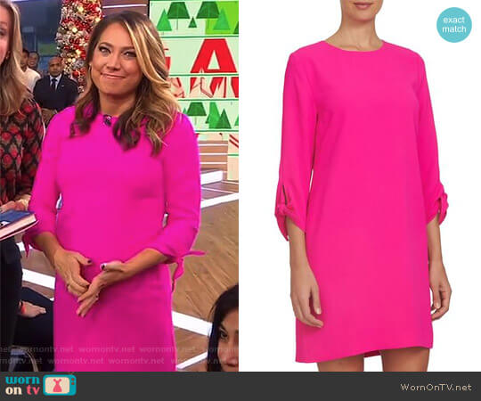 Tie Sleeve Shift Dress by Cece worn by Ginger Zee  on Good Morning America