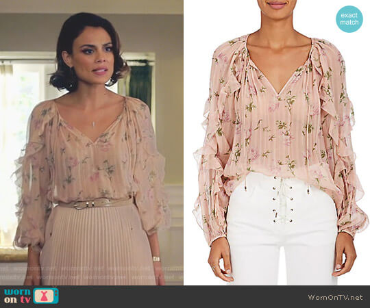 'Azalea' Blouse by Ulla Johnson worn by Nathalie Kelley on Dynasty