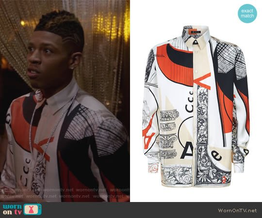 Bauhaus Print Silk Shirt by Versace worn by Bryshere Y. Gray on Empire