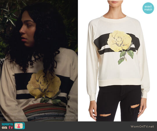 Sunny Rose Sweatshirt by WildFox worn by Allegra Acosta on Marvels Runaways