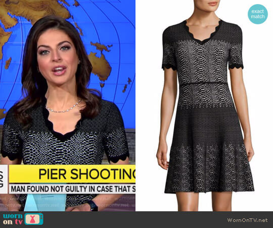 Snakeskin-Print Wool Dress by Yigal Azrouël worn by Bianna Golodryga on CBS This Morning