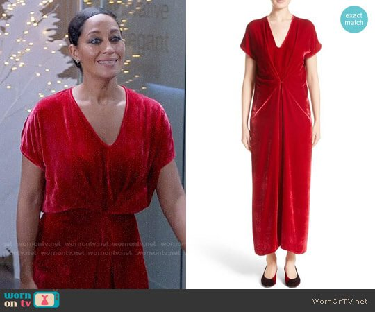 Zero + Maria Cornejo Sana Velvet Dress worn by Tracee Ellis Ross on Blackish