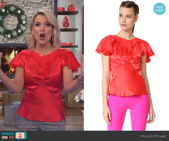 Short Sleeve Blouse by Zac Posen worn by Megyn Kelly on Today