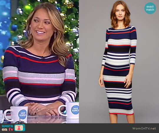 Striped Maternity Dress by A Pea in the Pod worn by Ginger Zee on The View