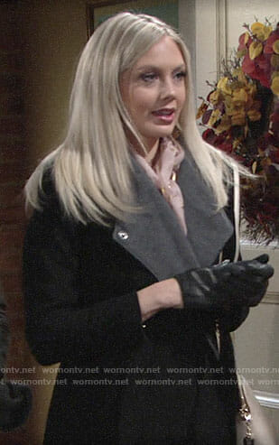 Abby's black and grey coat on The Young and the Restless