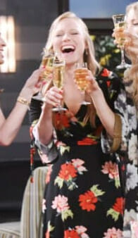 Abby's floral print wrap dress on Days of our Lives