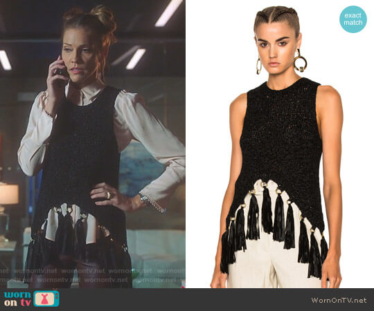 'Carmelita' Top by ALC worn by Charlotte Richards (Tricia Helfer) on Lucifer