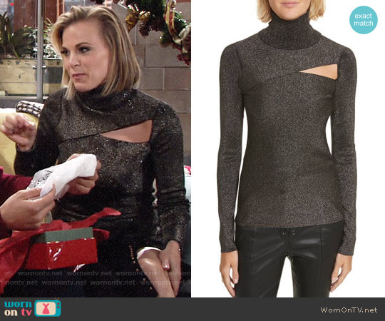 ALC Camden Sweater worn by Phyllis Newman (Gina Tognoni) on The Young & the Restless