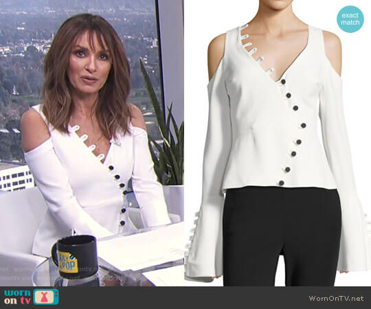 'Noere' Top by Alexis worn by Catt Sadler on E! News