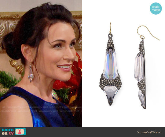 Alexis Bittar Wire Drop Accent Earrings worn by Rena Sofer on The Bold & the Beautiful