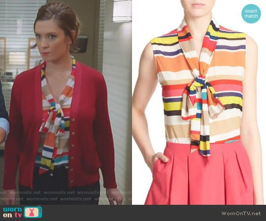 'Indira' Top by Alice + Olivia worn by Katherine Wendelson (Briga Heelan) on Great News
