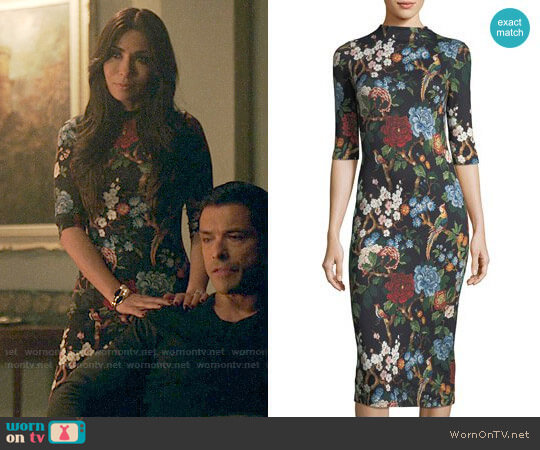 Alice + Olivia Delora Dress worn by Marisol Nichols on Riverdale