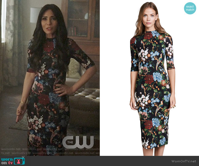 Alice + Olivia Delora Dress worn by Hermione Lodge (Marisol Nichols) on Riverdale
