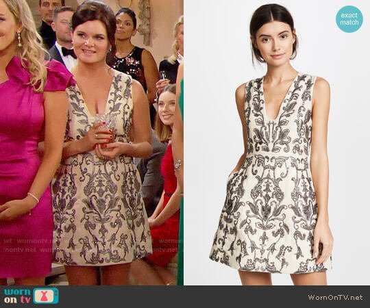 Alice + Olivia Prescilla Dress worn by Heather Tom on The Bold & the Beautiful
