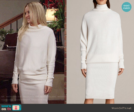 Wornontv Sharons White Sweater Dress On The Young And The Restless