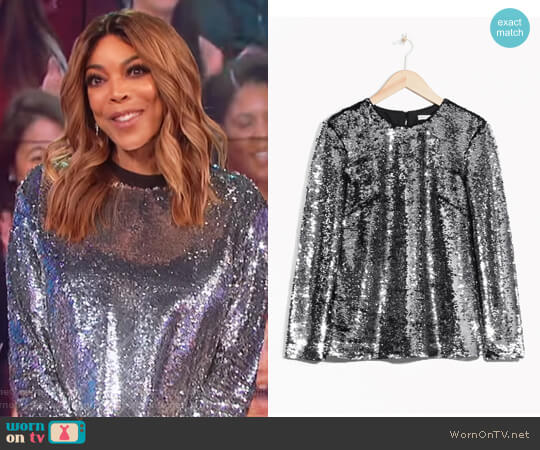 Sequined Top by & Other Stories worn by Wendy Williams on The Wendy Williams Show