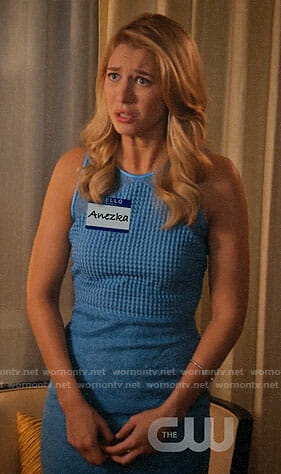 Anezka/Petra's blue dress on Jane the Virgin