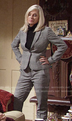 Ashley's plaid suit on The Young and the Restless