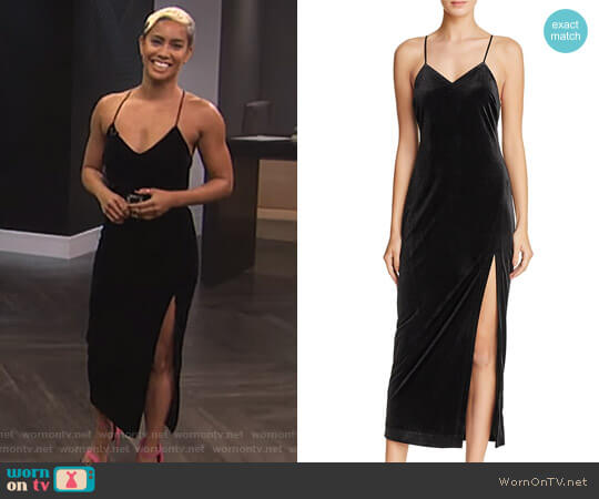 'Raven' Dress by Bardot worn by Sibley Scoles  on E! News