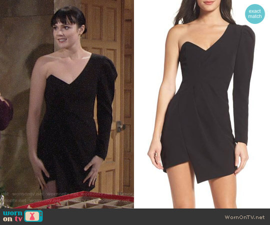 Bardot Anja One-Shoulder Dress worn by Cait Fairbanks on The Young & the Restless