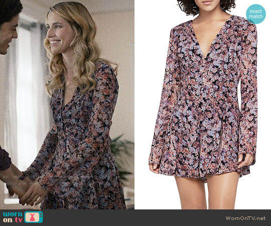 Bcbgeneration Autumn Bouquet Romper worn by Wallis Currie-Wood on Madam Secretary