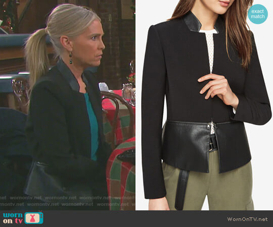 'Barrett' Jacket by Bcbgmaxazria worn by Jennifer Horton (Melissa Reeves) on Days of our Lives