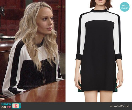 Bcbgmaxazria Stephanie Color-Block Dress worn by Abby Newman (Melissa Ordway) on The Young & the Restless