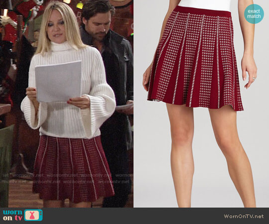 Bcbgmaxazria Yaz Jacquard Skirt worn by Sharon Case on The Young & the Restless