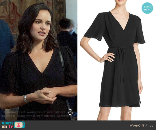 Betsey Johnson Crepe Wrap Dress worn by Melissa Fumero on Brooklyn Nine-Nine