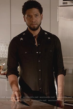 Jamal's black star embroidered shirt on Empire ...