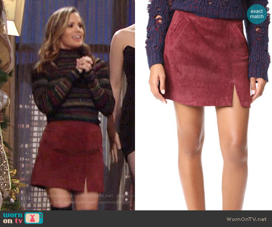 Blank Denim Ruby Skirt worn by Chelsea Lawson (Melissa Claire Egan) on The Young & the Restless